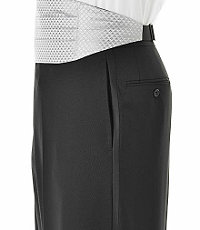 Black Plain Front Tuxedo Trousers- Sizes 44-48