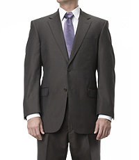 Signature Gold 2-Button Wool Suit- Brown Fashion Stripe