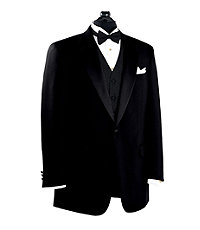Black Notch Collar Tuxedo Jacket