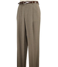 Executive Patterned Wool Pleated Trouser- Sizes 44-48
