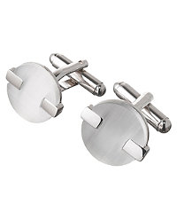 Mother of Pearl Round Cufflinks
