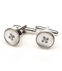 Mother of Pearl Round Button Cufflinks