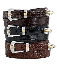 Embossed Moc Gator Belt- Size 44