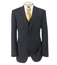 Joseph 2 Button Wool Vested Suit with Pleated Front Trousers