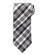 Black/White Plaid Formal Tie