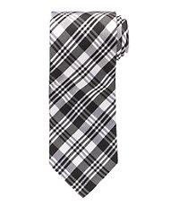 Black/White Plaid Formal Tie