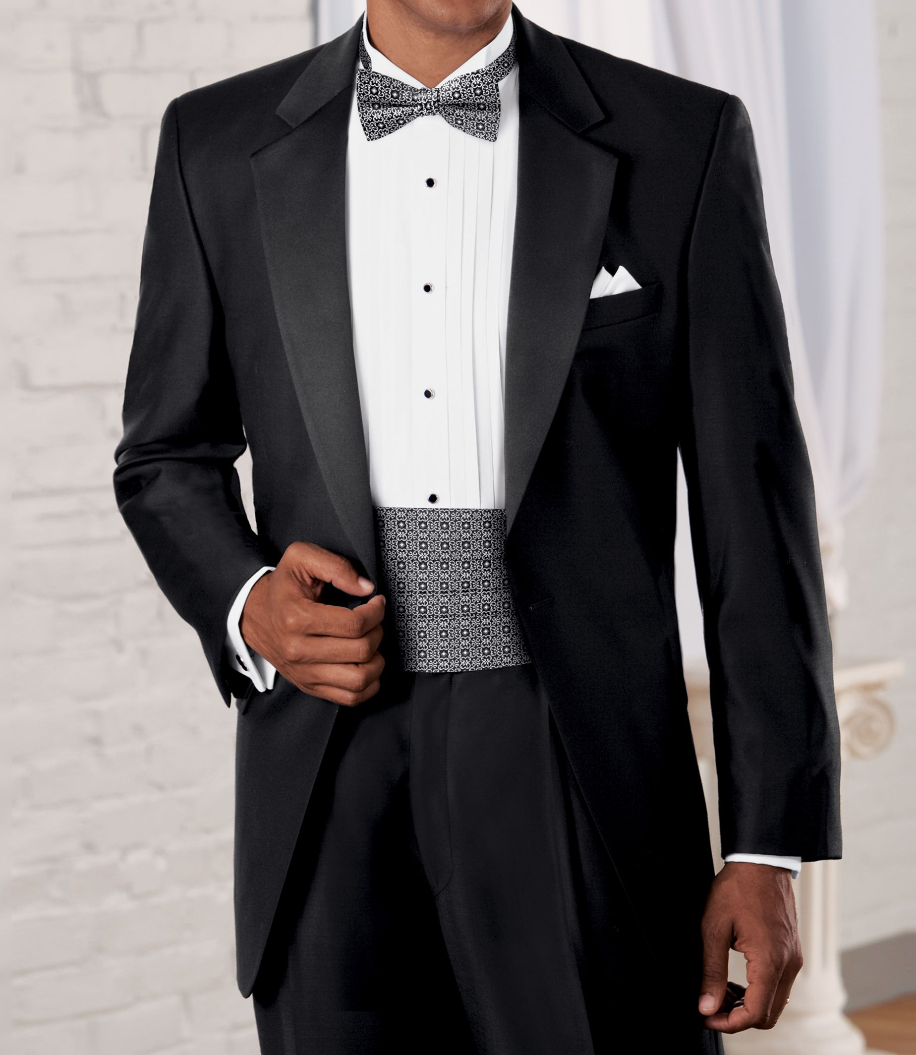 Signature Collection Traditional Fit Tuxedo  Big & Tall  Buy A Tuxedo   Jos A Bank