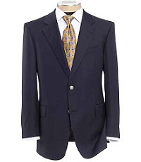 Signature Gold 2-Button Wool Navy Blazer- Sizes 54-56