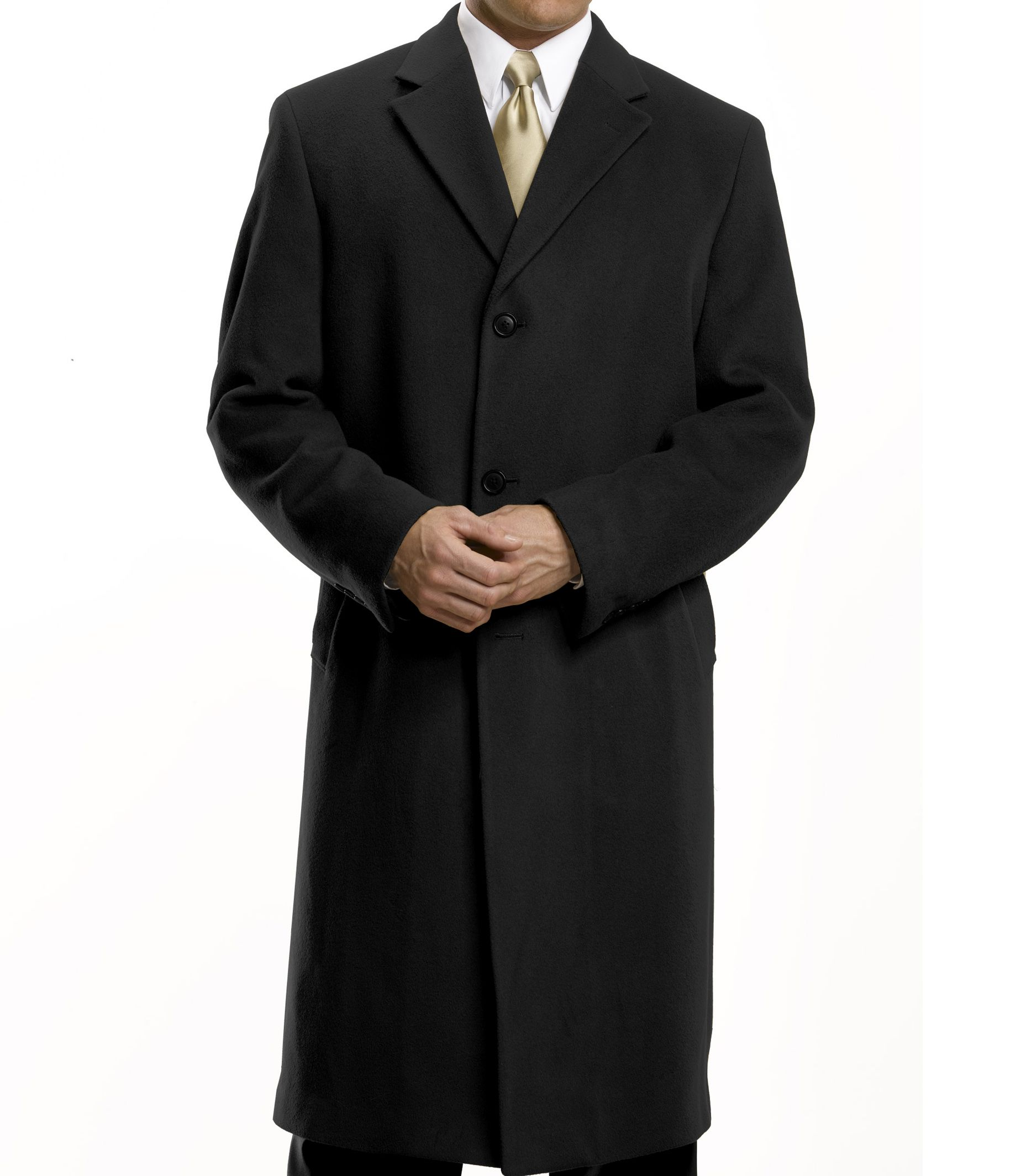 Merino Wool Topcoat Full Length Big/Tall- Sizes 52 - 60