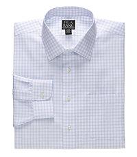 Traveler Poplin Check Spread Collar Dress Shirt Big or Tall