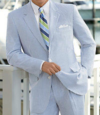 Stays Cool 2-Button Seersucker Suit- Sizes 48-52