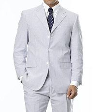 Stays Cool 3-Button Seersucker Suit- Sizes 48-52