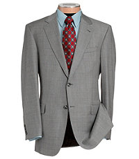 Signature Gold 2-Button Wool Suit- Sizes 44 X-Long - 52- Black/White Fashion Plaid