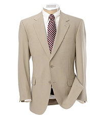 Signature 2-Button Wool Suit- Grey Herringbone with Rust Stripe- Sizes 48-52
