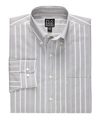 Traveler Tailored Fit Long-Sleeve Button Down Sportshirt