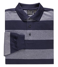 Traveler Long Sleeve Polo Navy Heather- Big and Tall