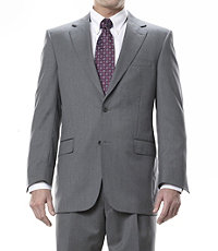 Signature Gold 2-Button Wool Suit- Light Grey Fancy Stripe