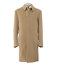 Camel Hair 3/4 Length Topcoat