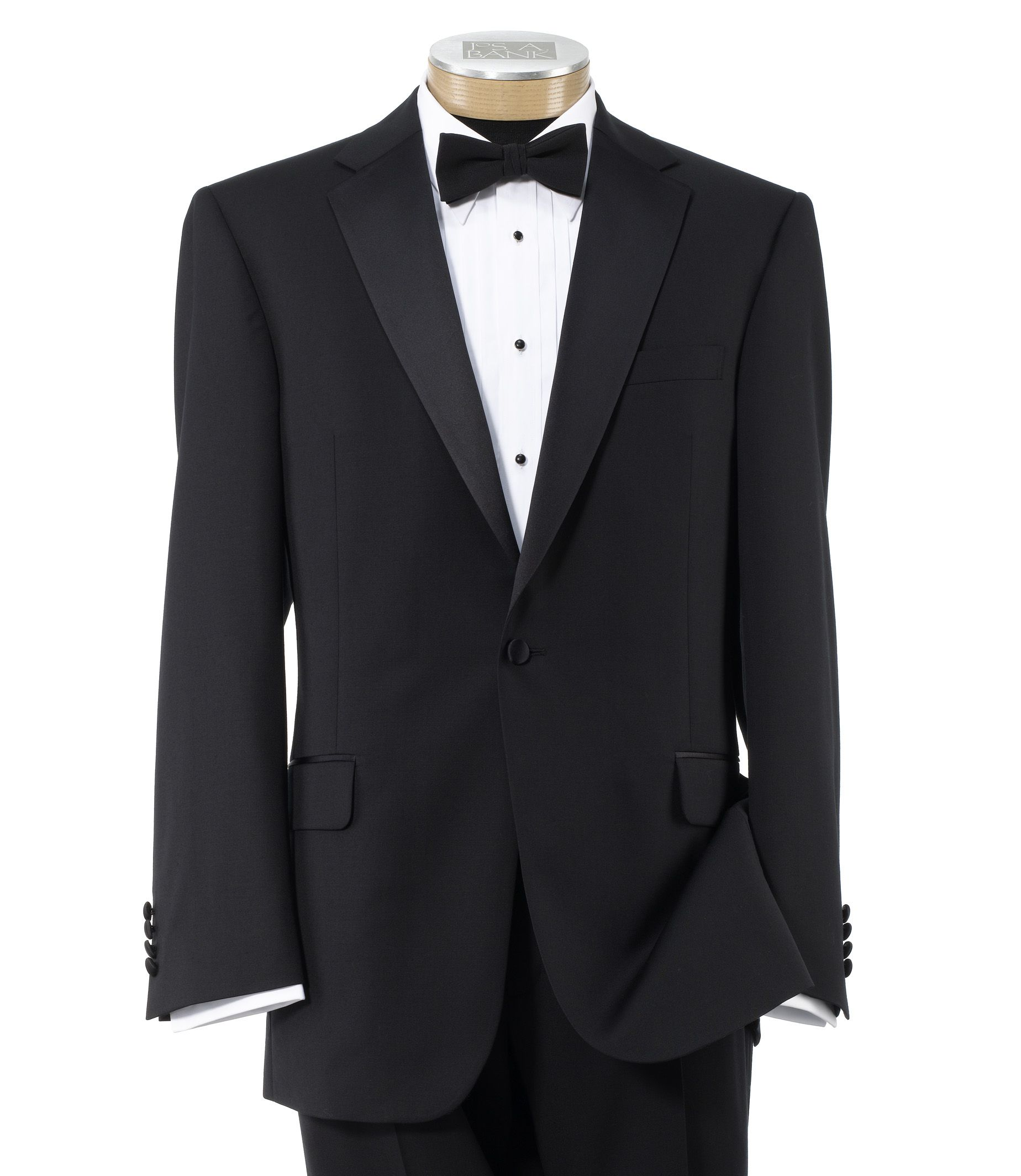 Traveler Tailored Fit Tuxedo with Plain Front Trousers