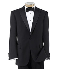 Traveler Tailored Fit Tuxedo with Plain Front Trousers-Extended Sizes