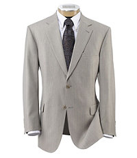 Signature 2-Button Imperial Wool/Silk Blend Suit- Light Grey Sharkskin