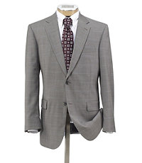 Signature 2-Button Wool Suit- Medium Grey Fashion Stripe- Sizes 44 X-Long-52