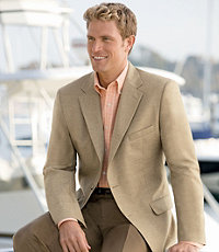 Tropical Blend 2-Button Linen/Wool Sportcoat- Sizes 52-60