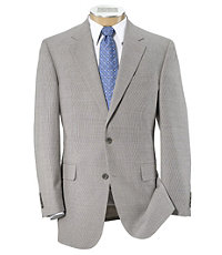Tropical Blend 2 Button Ticweave Suit with Plain Front Trousers