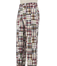 Madras Plain Front Pants
