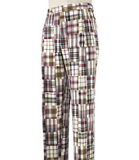 Madras Pleated Front Pants