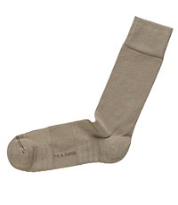 Solid Ultra Cushion Sole Mid-Calf Socks- Tan