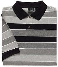 Traveler Striped Short Sleeve Patterned Polo