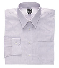 Executive Collection Point Collar Thin Stripe Dress Shirt