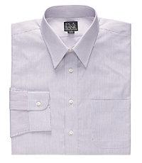 Executive Collection Point Collar Thin Stripe Dress Shirt