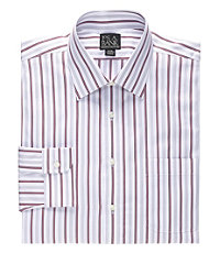 Executive Collection Spread Collar Stripe Dress Shirt