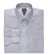 Traveler Tailored Fit Point Collar Pinpoint Microcheck Dress Shirt