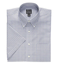 Traveler S/S Buttondown Patterned Cotton Sportshirt