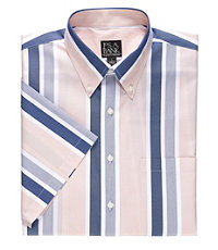 Traveler Tailored Fit S/S Patterned Cotton Sportshirt