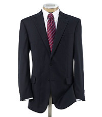 Signature 2-Button Wool Pattern Suit with Pleated Trousers Regal Fit