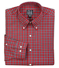 Traveler Buttondown Collar Tartan Plaid Sportshirt Big/Tall