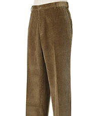 Colorfast Casual Corduroy Plain Front Pants- Sizes 44-48