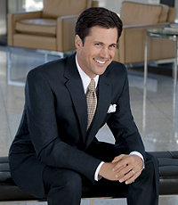 Executive 2Btn Suit with Plain Front Trousers- Sizes 44 X-Long-52 - Black, Blue Screenweave, Oxford Grey