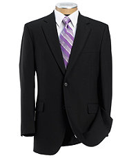 Executive 2-Button Wool Suit with Pleated Front Trousers Regal Fit