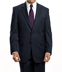 Executive 2-Button Wool Suit with Plain Front Trousers - Charcoal Fancy Plain, Navy, Olive Fancy Plain