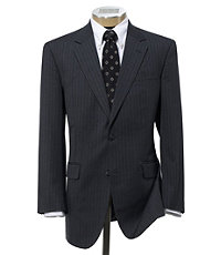 Executive 2-Button Wool Suit with Pleated Trousers Regal Fit