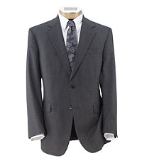 Executive 2-Button Wool Suit with Pleated Trousers - Sizes 44 X-Long-52