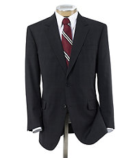 Executive 2-Button Wool Suit with Plain Front Trousers