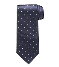 "Signature Platinum Small Dot Tie 61"" Long"