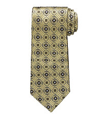 "Signature Geometric Medallion Tie 61"" Long"
