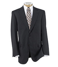 Signature Gold 2-Button Wool Suit- Charcoal Fancy with Deco Stripe